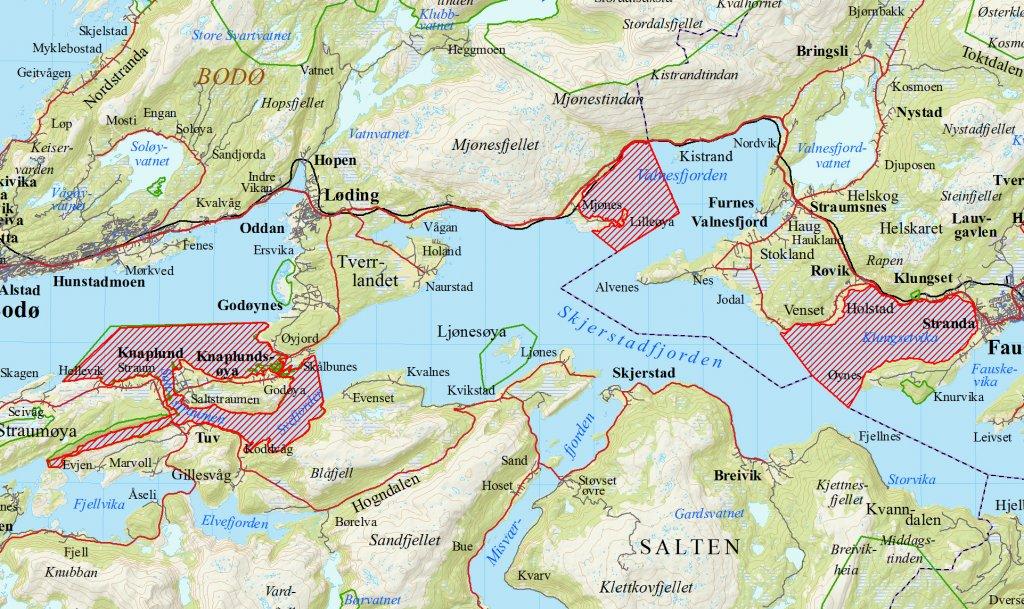 kart saltstraumen Norsk Ornitologisk Forening   Saltstraumen og Skjerstadfjorden IBA  kart saltstraumen