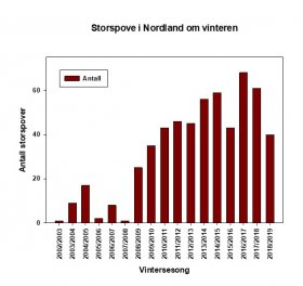 Storspove vinter diagram